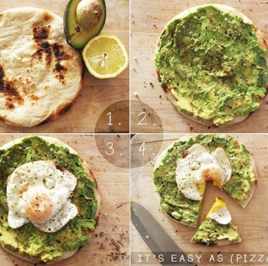 Avocado and Egg Pizza Snack