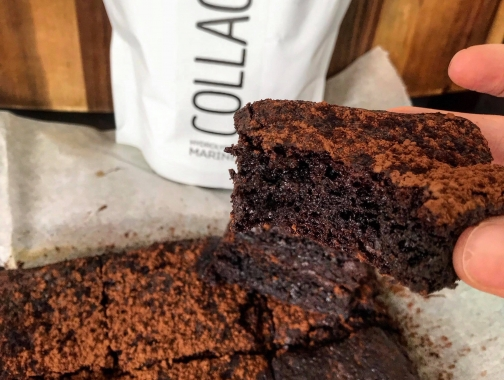 Chocolate brownie with collagen